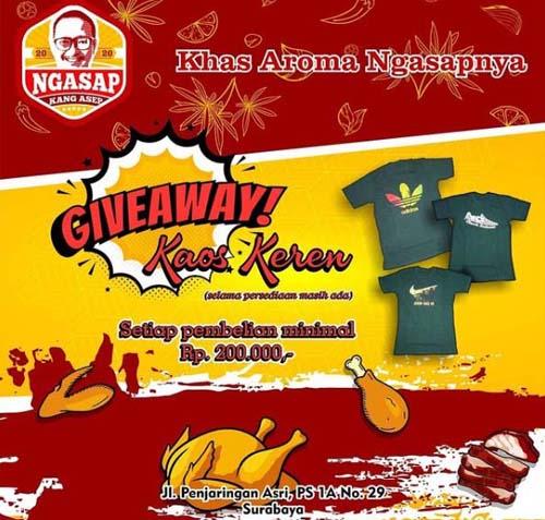 Gratis Kaos Keren Ayam Canton Surabaya